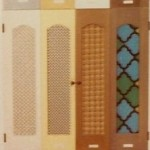 Interior Window Shutters With Fabric Inserts : We simply find that movable louver shutters are far more practical for ...