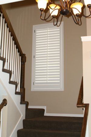 shutters over stairs